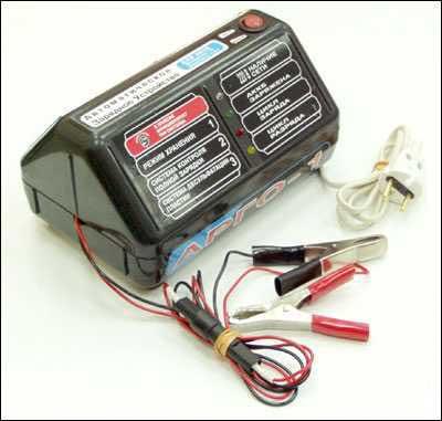 10 схема Автомобильное зарядное устройство на тиристоре Алкалиновые...