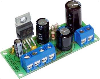 Усилитель низкой частоты 12 Вт (TDA2003, авто).