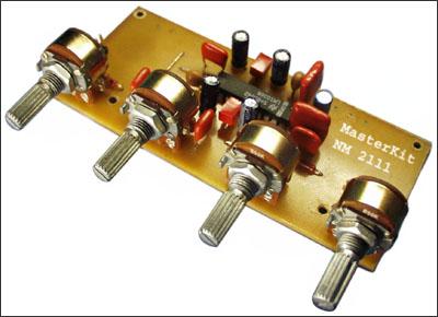 стереофонического темброблока NM2111.  Электронная схема устройства выполнена на основе микросхемы LM1036.