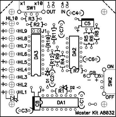 Схема монтажная NM8032.