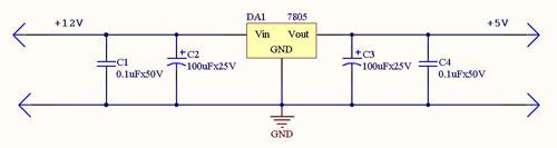 Схема внешнего стабилизатора +9В для питания MP1229 / MP1233 в автомобиле от АКБ +12В.